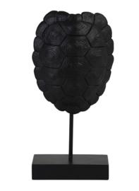 Ornament Turtle op voet, zwart