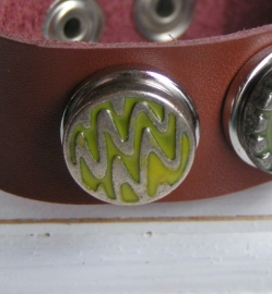 102 Clickbutton brons/limegroen