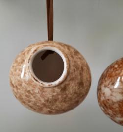 Hangvaasje, creme/bruin