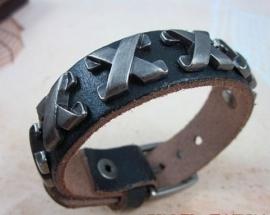 Leren armband X