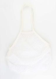 Granny's nettas met schouderband, wit