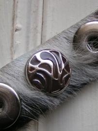 104 Clickbutton - bruin/zilver