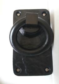 Handgreep/deurklink Ring - zwart, klein