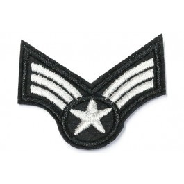 Patch Army star - zilver