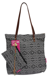 Go2beach bag Inca - zwart