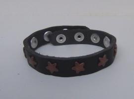Armband sterren - zwart, koper