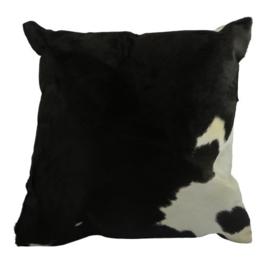 Kussen Koeienhuid - zwart/wit