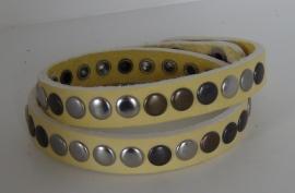 Wikkelarmband Studs -  geel