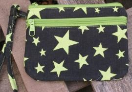 Portemonnee Stars - neongroen