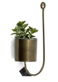 Wandhanger/bloempot, brons
