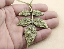 Ketting Leaves - antiekgoud