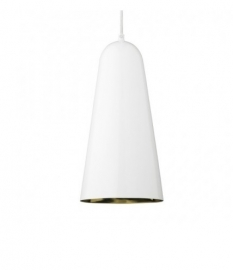 Hanglamp Cone - wit/goud