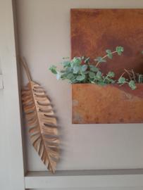 (Wand)hanger Blad - brons