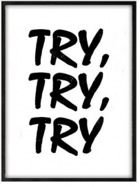 Lijst Try, try, try