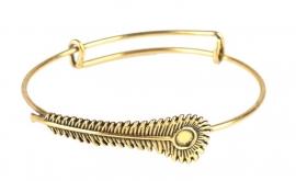 Armband Pauwveer - goud
