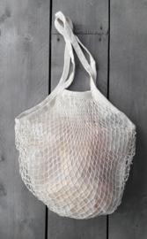 Granny's nettas met schouderband, creme