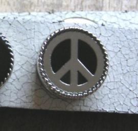 110 Clickbutton Peace - zilver/zwart