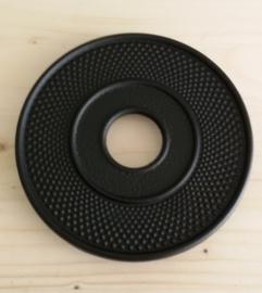 Onderzetter - zwart, metaal