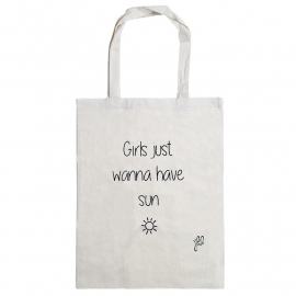 Tote bag Girls wanna have