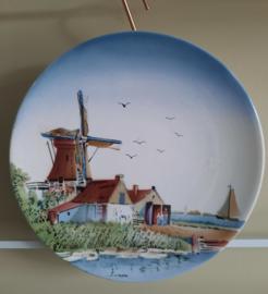 Wandbord met Hollands landschap