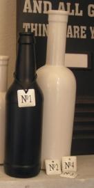 Labels No. 1 t/m No. 4 - wit