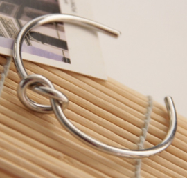 Bangle Big Knot - zilver