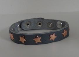Armband Sterren - grijs/koper