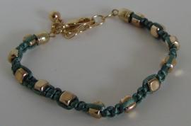 Armband groen/goud