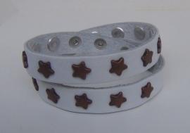 Armband Sterren, dubbel - wit