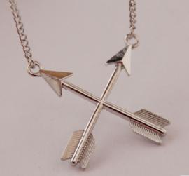 Ketting Arrows - zilver