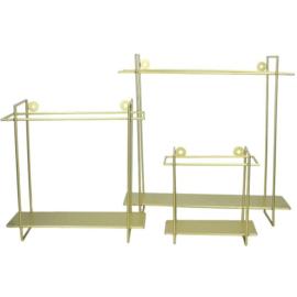 Metalen wandplankje - goud