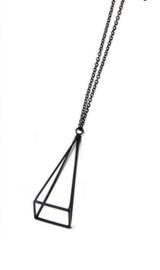 Ketting Triangle 3D - zwart