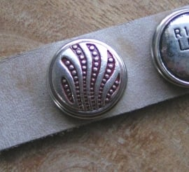 104 Clickbutton zilver/rood