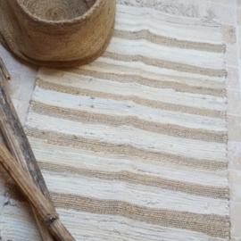 Vloerkleed katoen/jute