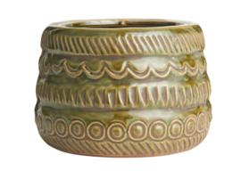 Bloempot Pattern - olijfgroen, klein