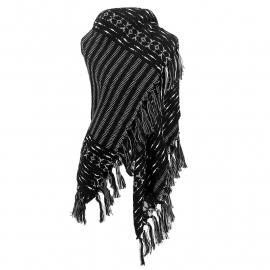 Sjaal Stripes - zwart