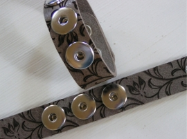 701 Clickbutton armband - Flowers