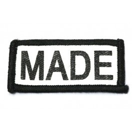 Patch Made - zwart/wit