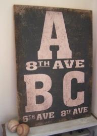 Tekstbord/doek ABC
