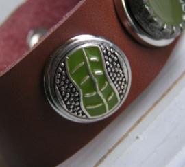 311 Clickbutton zilver/groen