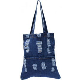 Shopper/totebag - dark denim