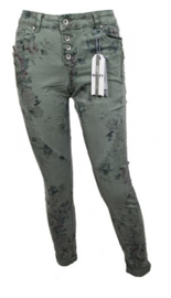 Norfy broek - army flowers