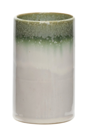 Vaas, wit/groen - small