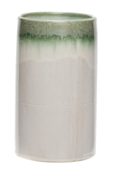 Vaas, wit/groen - large