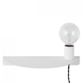 Wandlamp met plankje - offwhite