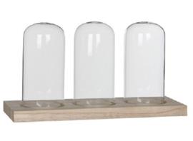 Tray met 3 stolpen