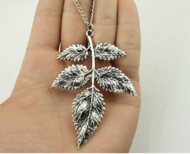 Ketting Leaves - zilver