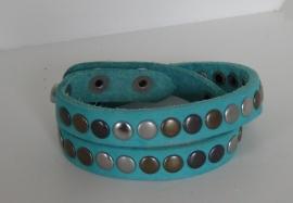 Wikkelarmband Studs -  aqua