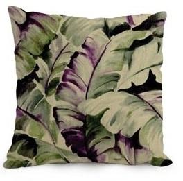 Kussenhoes Tropical - groen/roze
