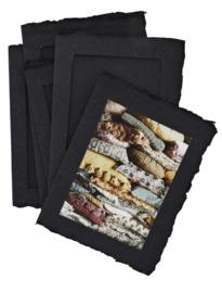 Fotoframe papierpulp - zwart